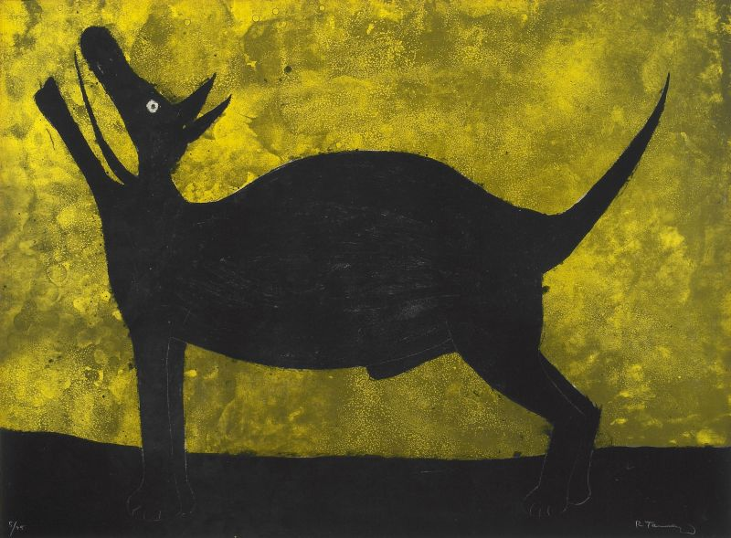 26-Perro, from Rufino Tamayo 15 Lithographs (P. 137), 1973